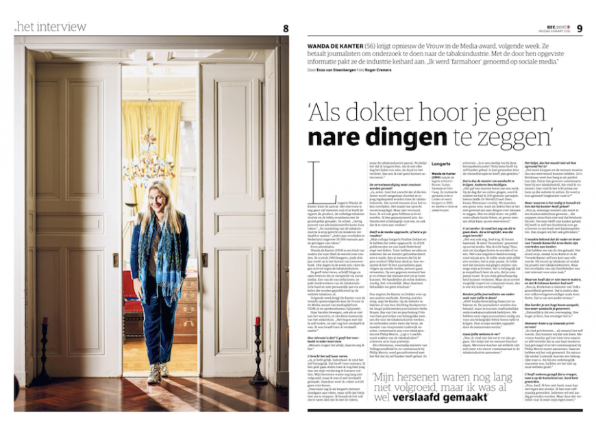 Portret Wanda de Kanter in NRC Next